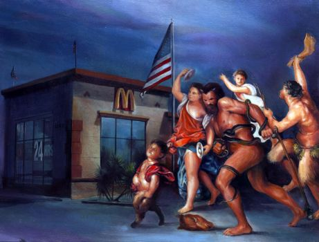 Bacchus and McDonalds by charles-hall