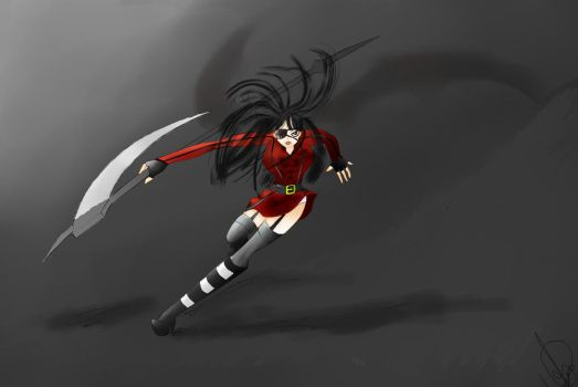 The shinigami by AlehwithH
