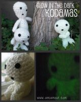 Glow in the Dark Kodamas by Ami-Amour