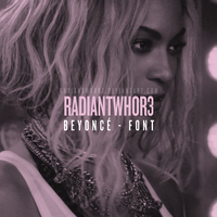 -BEYONCE FONT by RADIANTWH0R3