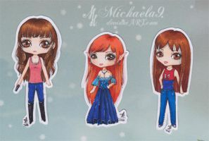 Chibi set 2 by Michaela9