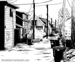 Residential Alley by shmekldorf