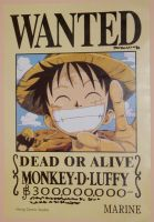 My Luffy wanted poster by Okami-Moony