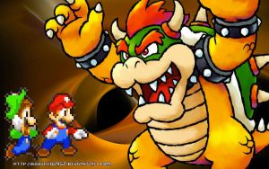 Random Bowser Wallpaper by babyluigi957