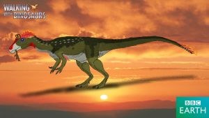 Walking with Dinosaurs: Cryolophosaurus by TrefRex