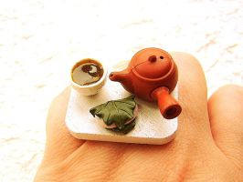 Green Tea Cup Pot by souzoucreations
