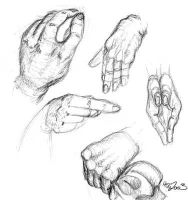 Hand Study - Life Drawings by halfbreed