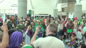 The Legend of Zelda gathering at Anime Expo 2013 by trivto