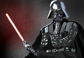 Darth Vader with MS Paint by MaryPudding