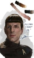 SPOCK (Zachary Quinto) by SAM---tan
