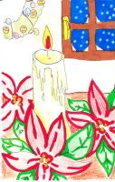 the candle with christmas stars by ItalianDream
