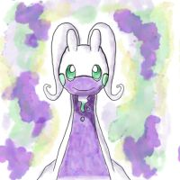 Watercolor Goodra by IcelectricSpyro