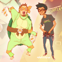 TMNT: two sides illustration by Mikuloctopus