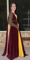 1480 Outfit Yellow + Burgundy by Kathelyne