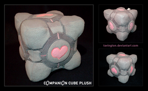 Companion Cube Plush by tavington