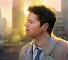 Castiel by AnnikeAndrews