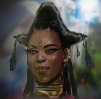 Naziya face concept speed paint 720 by heiesuke