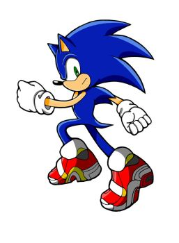 SA2 Sonic Colored by Divine-The-Cheetah