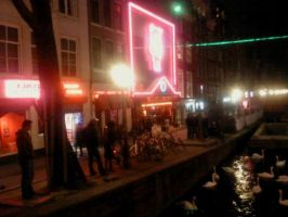 Amsterdam red light district (Kinky Sex street) by fh8888