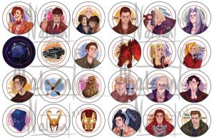 Doctor Who, Avengers, Teen Wolf, and More! by AraPersonica