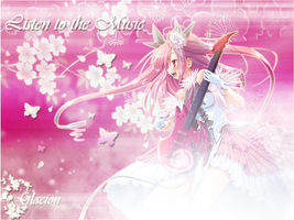 Music In Pink Wallpaper by Glacion