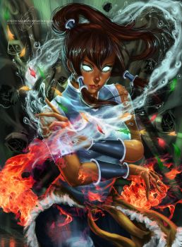 Korra - Avatar State by MirRoriel