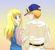 Harvest Moon: Claire and Gray by taichikun14