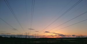 Sunset and Powerlines by miles-yet2go