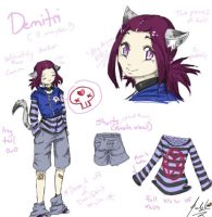 Demitri ref sheet by RastaPickney-Juls