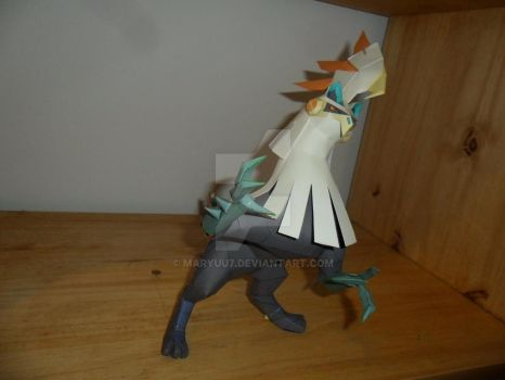 Shiny fighting type Silvally Papercraft by Maryuu7
