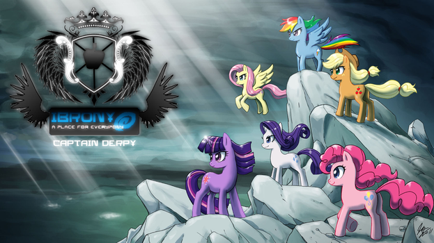 IBrony Crest Wallpaper 2 by CaptainDerpy