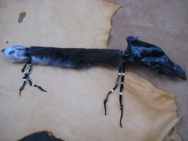Black wolf skull rattle 2 by lupagreenwolf