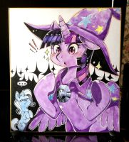 Twilight + Trixie Shikishi by Mi-eau