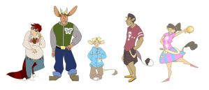 WWP - Character Line-Up by Lepon