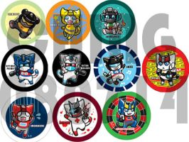 TF cats Badges by chingc