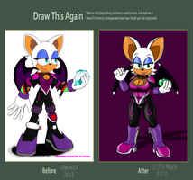 Draw this again contest entry:Rouge the Bat Redraw by Rafael-Oliveira
