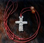 Heliant pendant with beads by Dewfooter