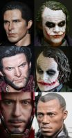 hot toys best head sculpts by Anzwer