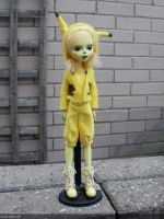 monster high custom doll pokemon pikachu gijinka by Rach-Hells-Dollhaus