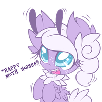 Happy Moth Noises by LoreHoshiko