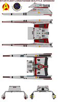 Star Fleet Long range shuttle  grissom by bagera3005