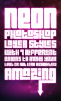 Free Neon Photoshop Styles by MosheSeldin