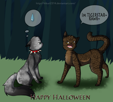 A DovexTiger Halloween by hikari2314