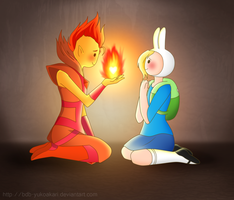 Flame Prince x Fionna - Color by BDB-YukoAkari