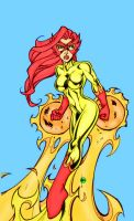 Firestar 2 by Bill Maus by Mythical-Mommy