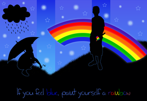 Paint Yourself a Rainbow by FightTheAssimilation