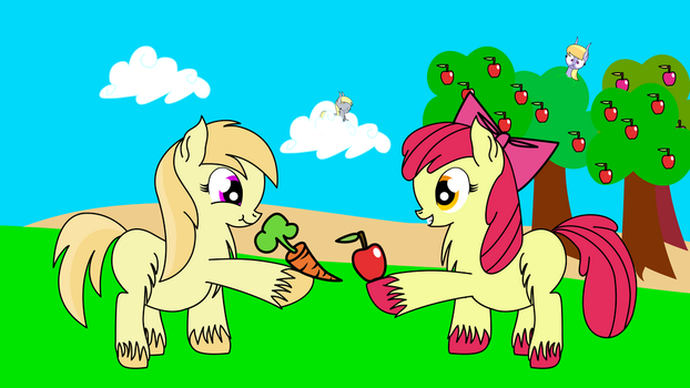 Apples and Carrots by DinkyUniverse