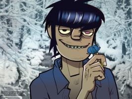Murdoc and flower by iricolor