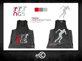 NGS Black Race Shirt by ANOZER