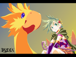 Rydia and Chocobo by Haruru